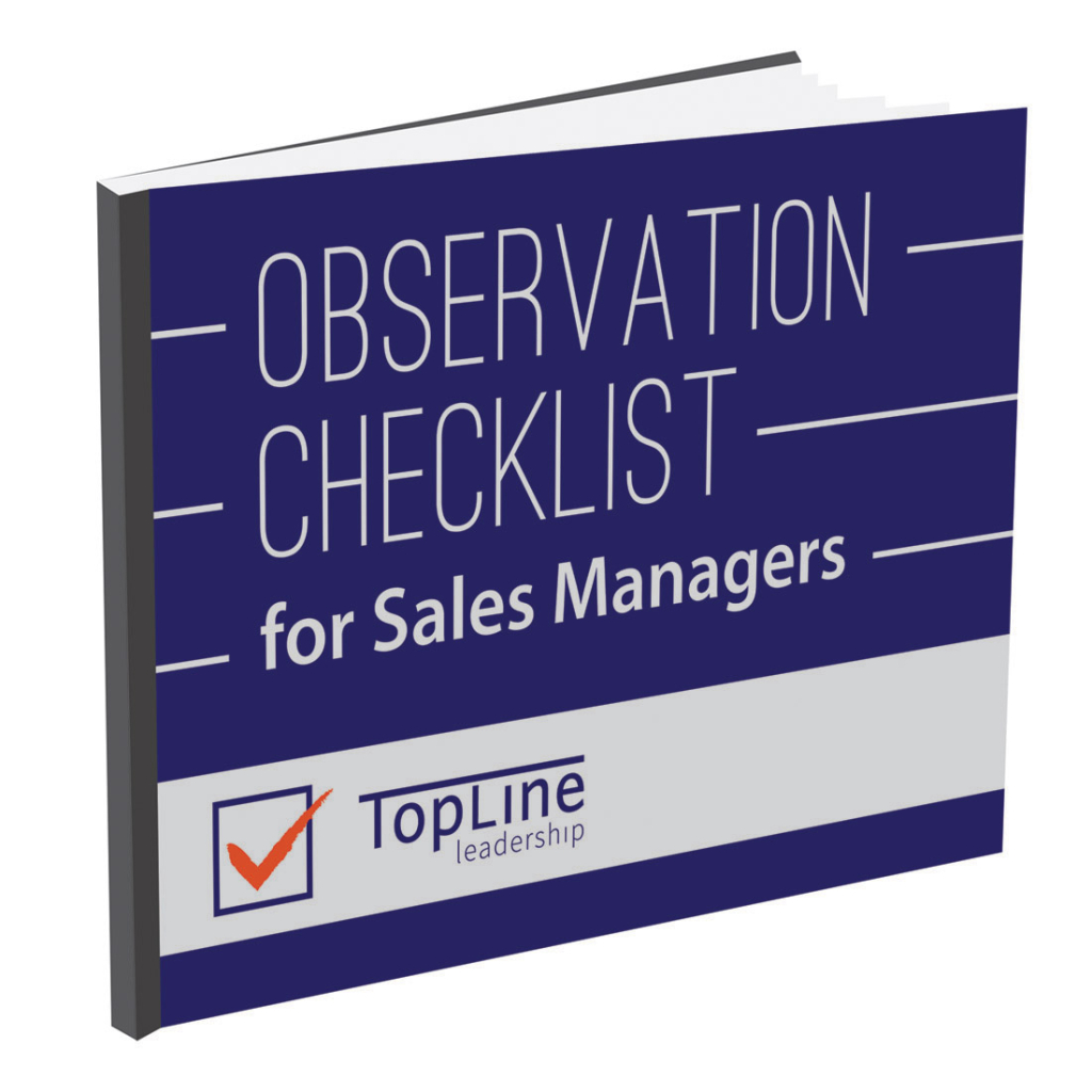 Observation Checklist for Sales Managers