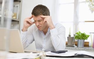 Senior salesperson using CRM