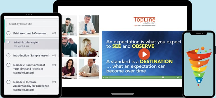 Online course preview on devices